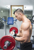 Young man training — Stock Photo