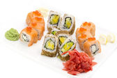 Japanese sushi fish and seafood — Foto de Stock