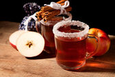 Two glass of mulled wine — Stock Photo