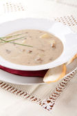 Mushroom soup with cream and potatoes — Stock fotografie