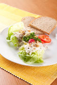 Grilled chicken with celery with cream — ストック写真