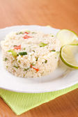 Salad with couscous, parsley, tomatoes and cucumber — 图库照片