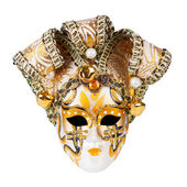 Gold Venetian mask — Stock Photo