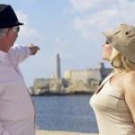 turism och gamla reser, seniorer att ha kul på semester — Stockfoto