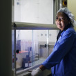 Medical research center, woman working in pharamaceutical lab — Stock Photo