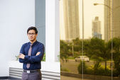 Portrait of proud and confident chinese office worker — Foto de Stock