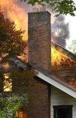 Incendio casa — Foto Stock