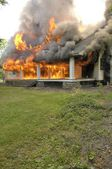 House Fire — Stock Photo