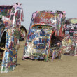 Stock Photo: Cadillac Graveyard