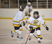 Peewee hockey — Foto Stock
