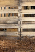 Wood Palette Hay — Stock Photo
