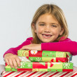 Child With Gifts — Stock Photo