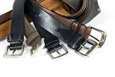 Mens Belts — Stock Photo
