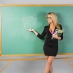 blond škole učit — Stock fotografie