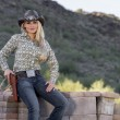 Blonde Cowgirl — Stock Photo