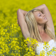 Royalty-Free Stock Photo: Model In Field Of Flowers