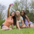 3 Girls Enjoying The Park — Stock Photo