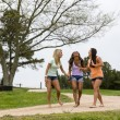 3 Girls Enjoying The Park — Stock Photo #26183069