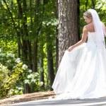 Modern Bride Outdoors — Stock Photo #32497545