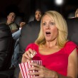 People Watching A Movie — Stock Photo