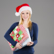Blonde Holiday Shopper — Stock Photo #37928379