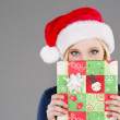 Blonde Holiday Shopper — Stock Photo