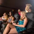 People Watching A Movie — Stock Photo #43860835