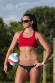 女子ビーチバレー選手 — ストック写真