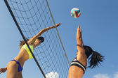 Female Beach Volleyball Players — Stock Photo