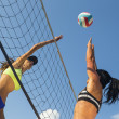 Female Beach Volleyball Players — Stock Photo #51608179