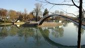 Most v parku. — Stock fotografie