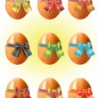 Stock Vector: Easter eggs.
