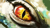 Eye of lizard — Stock Photo