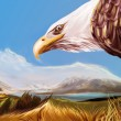Eagle digital art. — Stock Photo