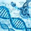 DNA molecules and human — Stockfoto