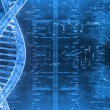 Digital illustration of a DNA in beautiful background — Stock Photo #35642229