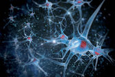 3D illustration of a neuron — Stock Photo