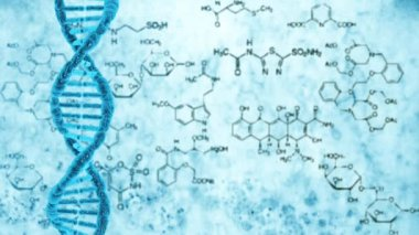 Rotation of a molecule of DNA — Stok video