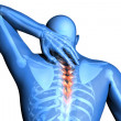 Spine pain - vertebrae trauma — Stock Photo