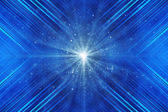Blue beautiful background with optical flare — Stock Photo