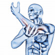 Elbow pain — Stockfoto
