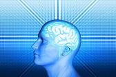 Men and brain — Stock Photo