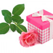 Gift and rose — Stock Photo #12366963