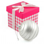New year ball and gift box — Stock Photo #12430391