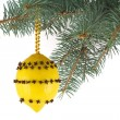 Lemon with cloves - Christmas toy — Stock Photo