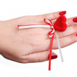 Royalty-Free Stock Photo: Red manicure and red heart