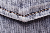 Blue jeans pocket close-up. fabric texture. — Stock Photo
