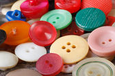 Background of many old colored buttons closeup. — Stock Photo
