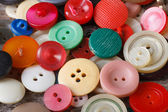 Background of old colorful buttons closeup — Stock Photo