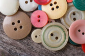Lots of colorful buttons close up — Stock Photo